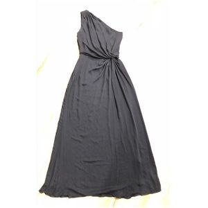 Halston Heritage Black One Shoulder Gown